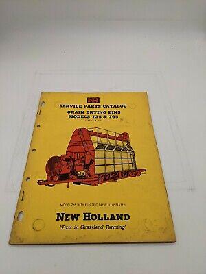 New Holland Service Parts Catalog Grain Drying Bin Model 735 765