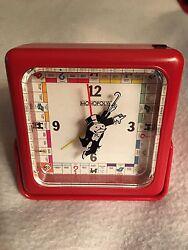 Monopoly Quartz Travel Alarm Clock With Box And Instructions