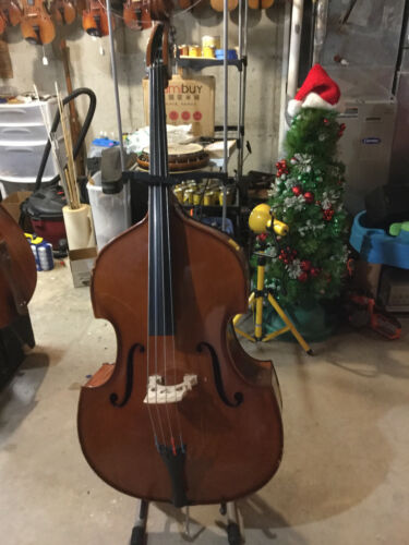 1/4 Double Bass, Upright Bass,Made of Solid Wood