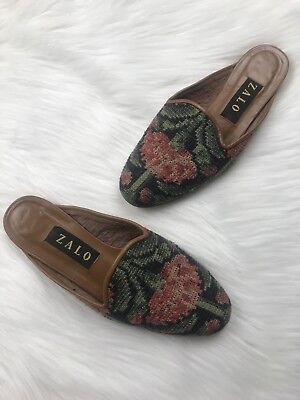 Zalo Womens Sz 8 Slip on Mules Needlepoint for sale  Fitchburg