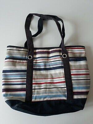 Gestreifte Damen Handtasche (Damen Handtasche Rot/Blau/Weiß gestreift)