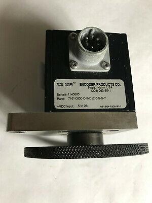 Encoder Products Accu-coder 716-0600-0-ind12-6-s-s-y2130 013 Rotary Encodersd