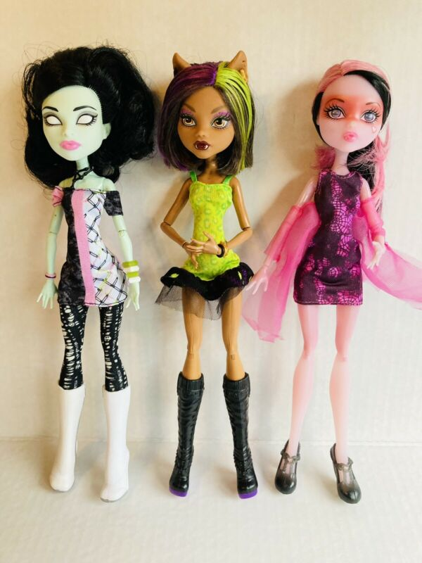 Monster High - 3 Doll Lot - Used