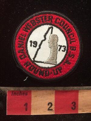 Vtg 1973 Boy Scout DANIEL WEBSTER COUNCIL ROUND-UP New Hampshire Patch 78Z7