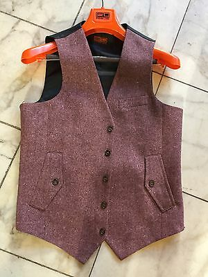 NWT Steven Land Casual Dress Multi Color  Men's Vest  100% Wool  Size 40