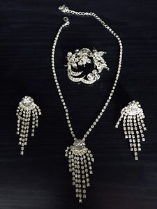 Silver-coloured Necklace and Earrings