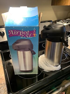 Airpot 2.5l Stainless Steel Coffee Dispenser Server Carafe 12 Hour Heat Hold