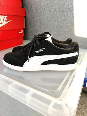 Mens Puma Trainers Suede Black UK Size 8