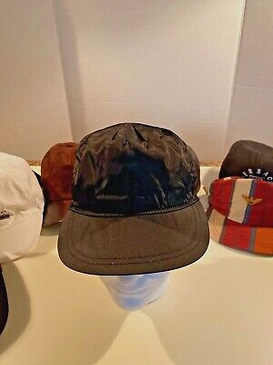 Vintage Gianni Versace Hat, Black Nylon (Versace Hat For Men)