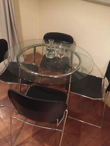 New IKEA glass table