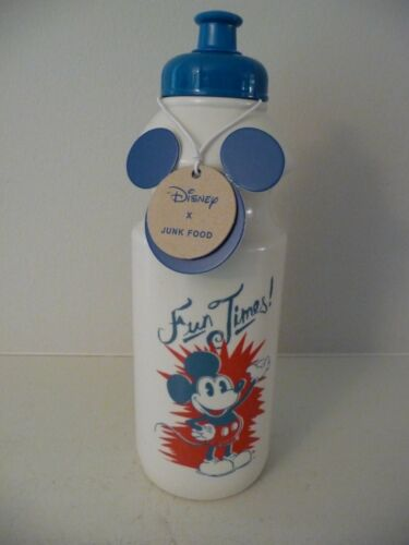 """New with Tag - Disney Mickey Mouse """"Fun Times!"""" Plastic Water Bottle - FREE SHP"""