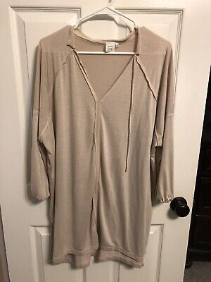 Good Luck Gem Nordstrom Size  XL Tunic Top Ivory 3/4 Sleeve High Quality Item - Good Luck Items