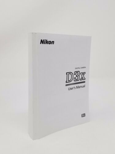 Nikon D3X Instruction Owners Manual Book NEW
