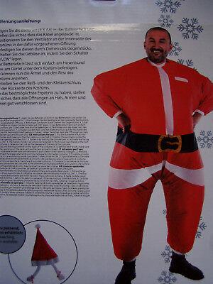 Luftkostüm Weihnachtsmann Nikolaus Aufblasbare Kleidung Fasching Karnevall - Luft Mann Kostüm