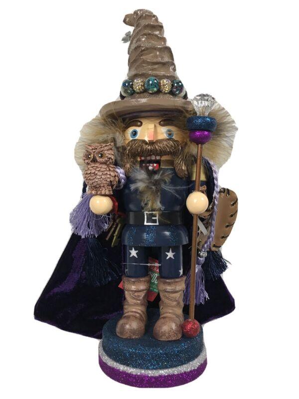 "Kurt Adler 15"" Hollywood Brown Wizard Nutcracker HA0284"