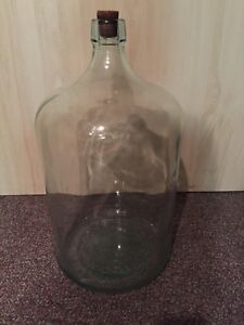 GLASS JUG, CARBOY, DEMIJOHN, 13 gallons