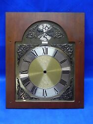 Vintage Grandfather Clock Colonial Tempus Fugit Western Germany Face - Part Only