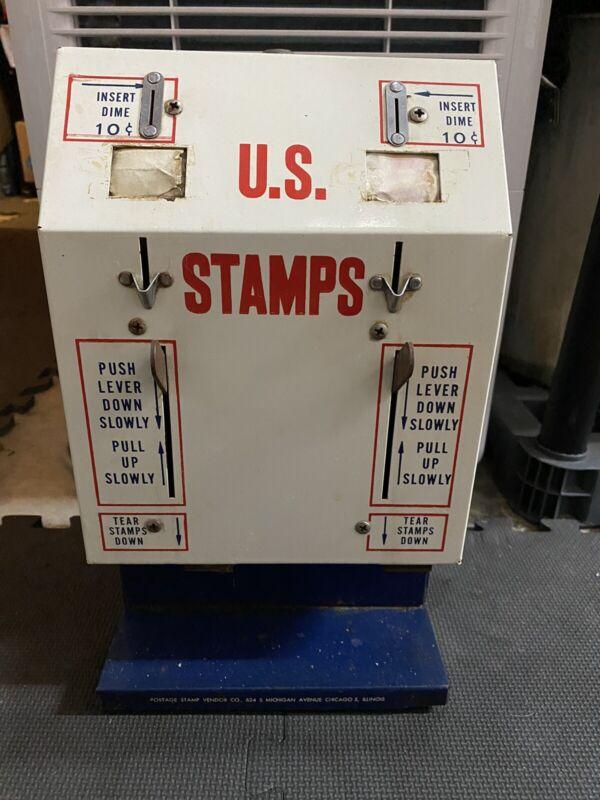 Vintage U.S. United States Postage Stamp Vending Machine Dispenser USPS No Keys