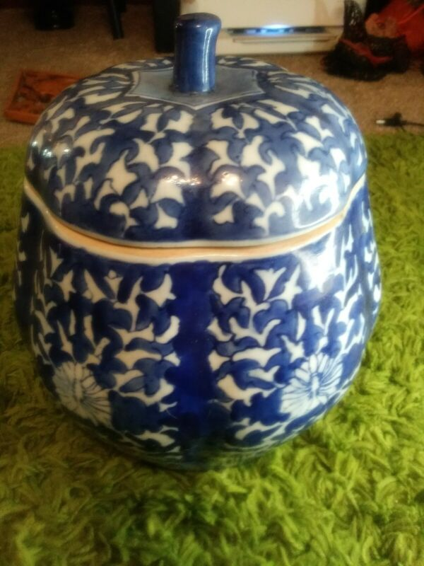 Blue And White Cookie Jar
