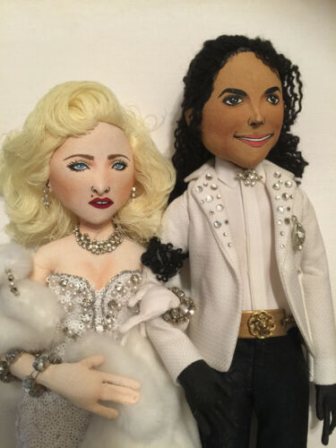 Michael Jackson and Madonna Doll Set 1991 Oscars Inspired INCREDIBLY DETAILED