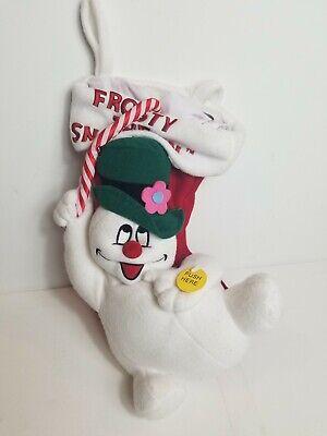 Frosty The Snowman Stocking Musical Music Playing Christmas Plush Stuffed Gemmy
