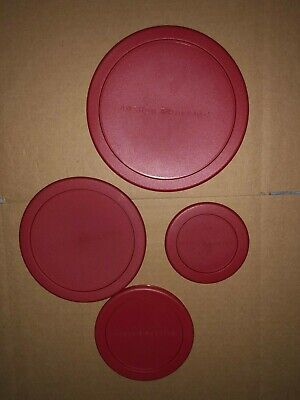 Anchor Hocking Food Storage Red Plastic Lid - Round Replacement Cover Lid Plastic Lids