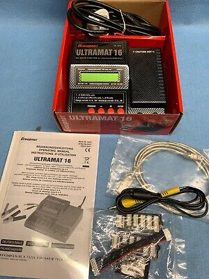 Graupner Ultramat 16 Battery Charger Used RC Plane Aeroplane Aircraft