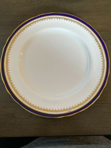 Set of 14 - Aynsley England Bone China Embassy Colbalt Blue & Gold Dinner Plates