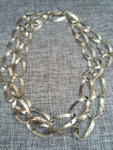 Schlichte Gliederkette / 835 Silber ca.80cm