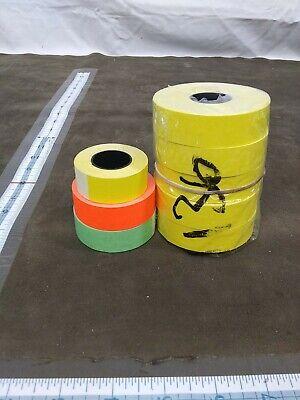 Assorted Monarch 1136 Plain Fluorescent Price Gun Labels Yellow Green Orange