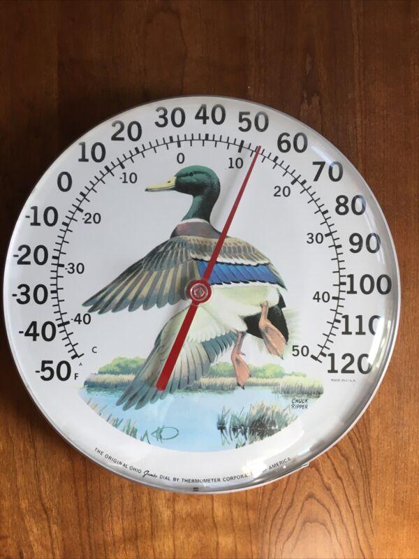 Chuck Ripper The Original Ohio Jumbo Dial Thermometer Duck Art USA