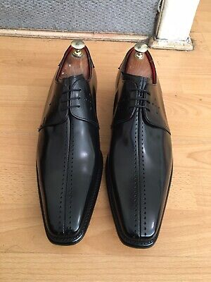 Jeffery West Dashwood Black Leather Derby Shoe Uk 10, RRP£260 Made In England