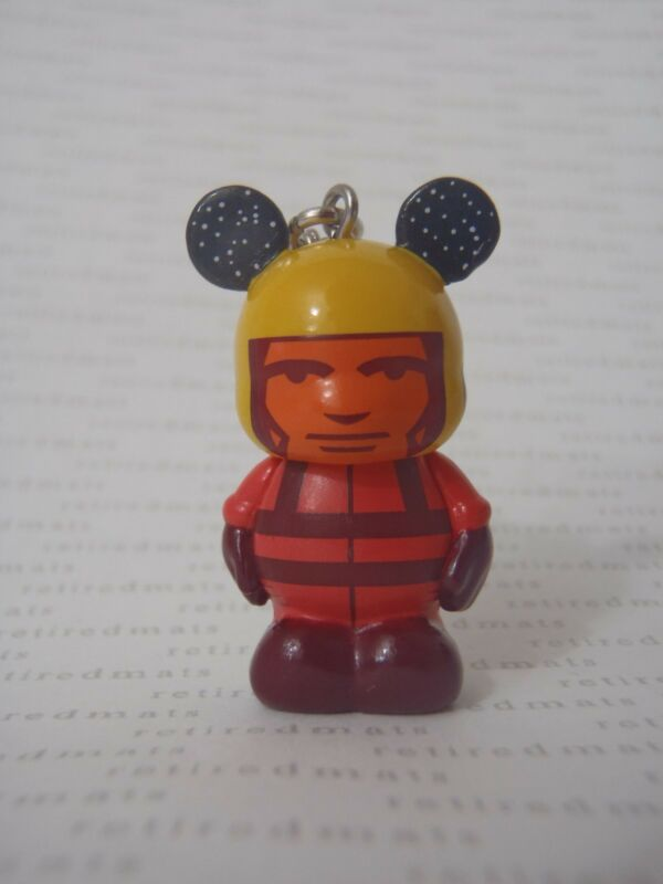 """Disney Vinylmation Jr #7 In Space RED & YELLOW ASTRONAUT Suit Mickey 1.5"""" Figure"""