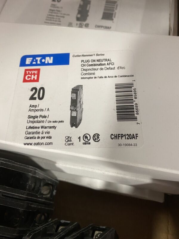 EATON CUTLER HAMMER CHFP120AF / CHFCAF120PN ARC FAULT Breaker NEWEST VERSION
