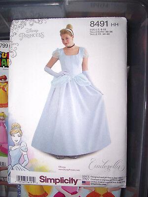 BRAND NEW UNCUT Simplicity Pattern Disney Princess Belle Adult Sz 6-14 #8406 - Adult Disney Princesses