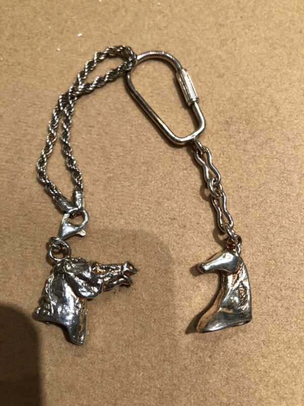 Box Lot 2 Vintage Sterling Silver Horse Key Chains