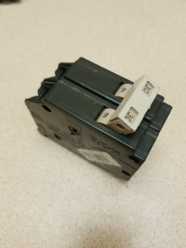 Cutler Hammer Eaton CH230 2 pole 30 amp Plastic Foot Circuit Breaker Type CH