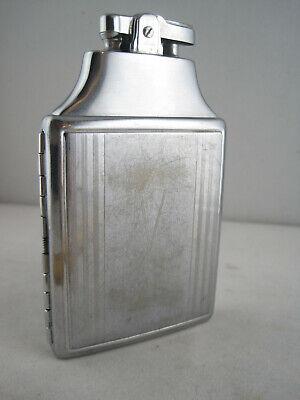 Vintage RONSON Art Deco Mastercase - Lighter and Cigarette Case - Silver Tone