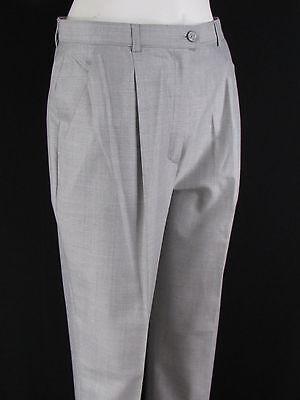 women light gray silk wool classic plaited