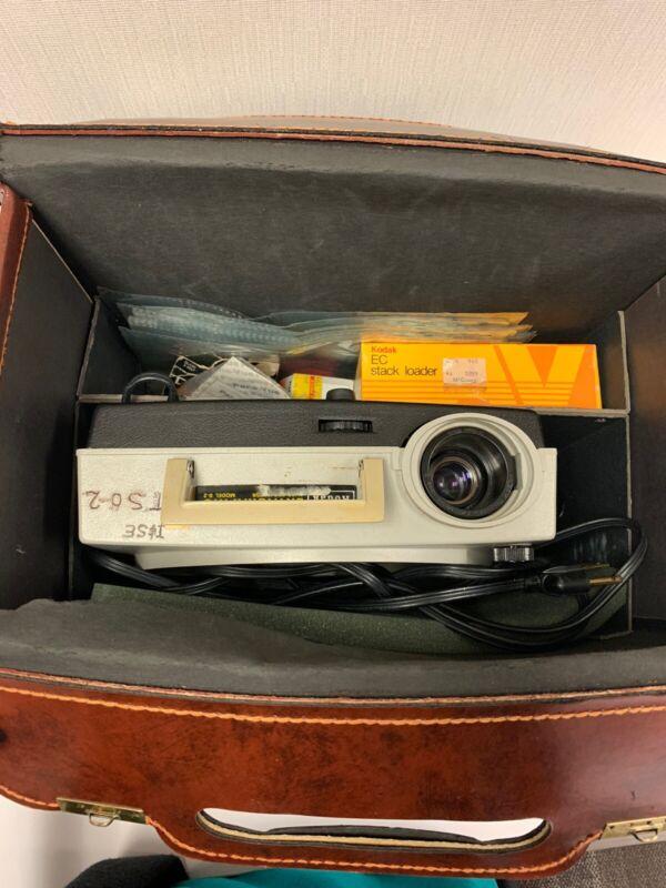 Vintage KODAK EKTAGRAPHIC Slide Projector with Case, Remote, Stack Loader & More