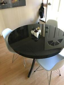 Black glass dining table North Lakes Pine Rivers Area Preview