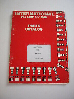 Ih International Hough 515 Front-end Wheel Pay Loader Parts Catalog Manual List