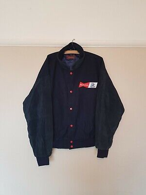 Budweiser Vintage France 98 World Cup Wool/Leather Letterman Jacket •XL• USA 90s