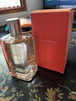 "Zara Fragrance ""I Love Petals"" 100 Ml With Box  Brand New"