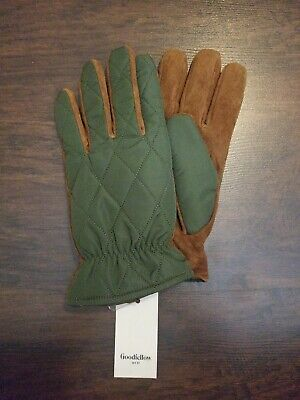 Men's Quilted Fleece  Lined Leather Gloves - winter