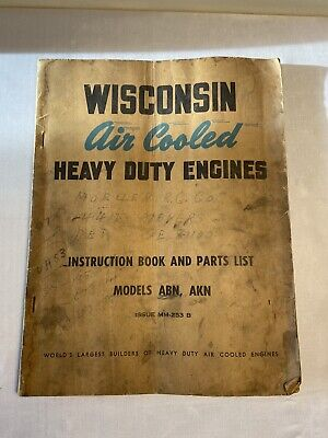 Vintage Wisconsin Air Cooled Heavy Duty Engines Model Abn Akn