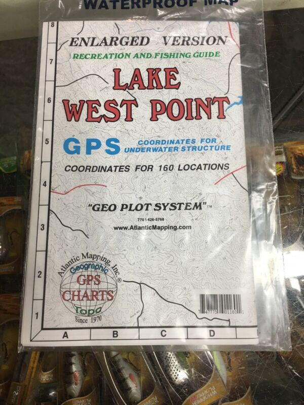 ATLANTIC MAPPING , LAKE  WEST POINT, AL, GEOGRAPHIC, GPS, WATERPROOF
