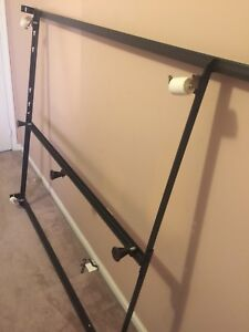 Queen-size Metal Bed frame; bought from Hudson Bay store