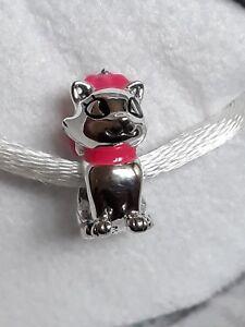 Genuine, Retired CHAMILIA 925 Silver Disney Aristocat MARIE Charm Bead