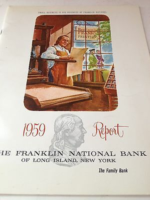 Estate 1959 FRANKLIN NATIONAL BANK ANNUAL REPORT Long Island New York